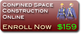 Online confined space training for the Construction Industry